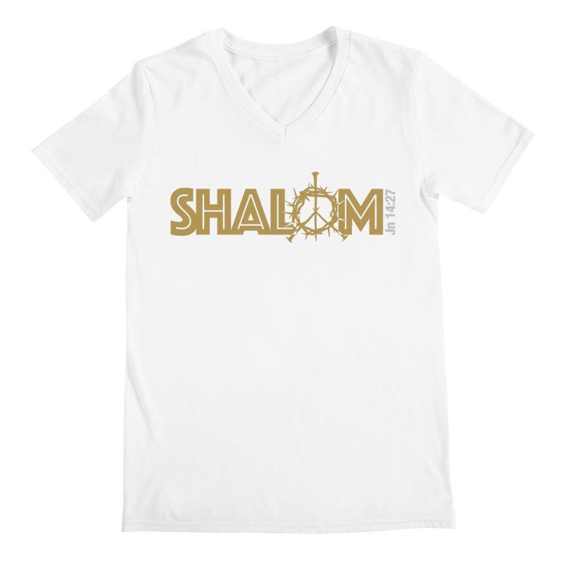 Shalom Men's V-Neck by Stand Forgiven ✝ Bible-inspired designer brand
