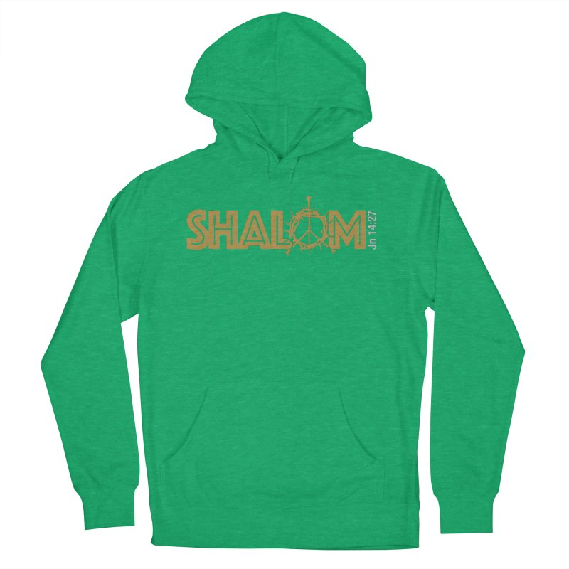 Shalom Men's Pullover Hoody by Stand Forgiven ✝ Bible-inspired designer brand