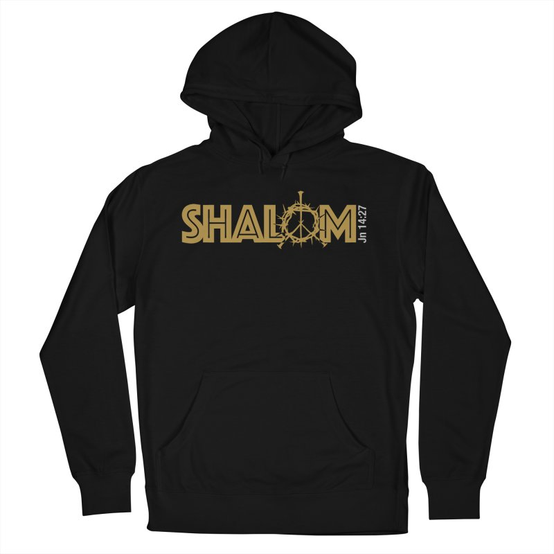 Shalom Men's French Terry Pullover Hoody by Stand Forgiven ✝ Bible-inspired designer brand