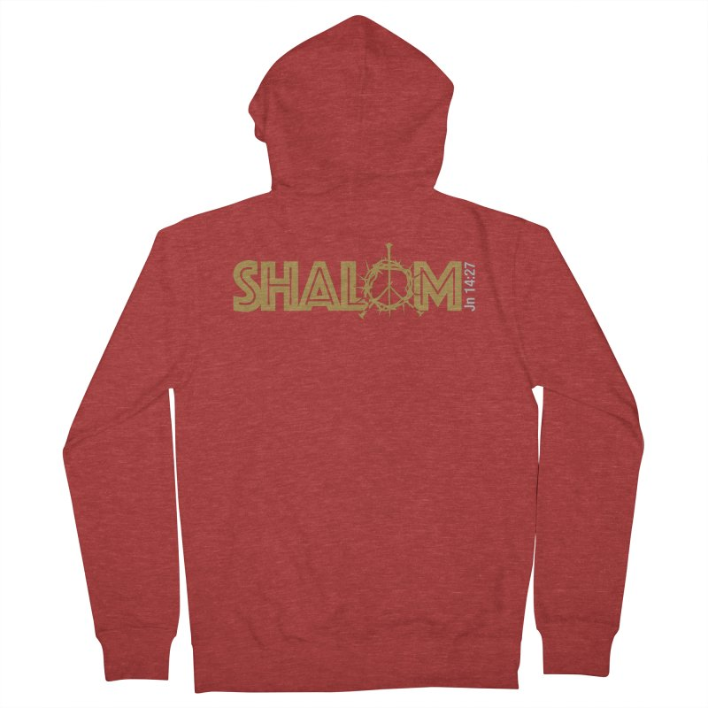 Shalom Men's French Terry Zip-Up Hoody by Stand Forgiven ✝ Bible-inspired designer brand