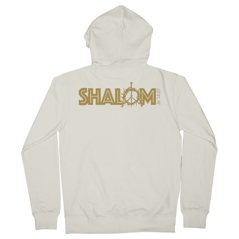 Shalom Men's Zip-Up Hoody by Stand Forgiven ✝ Bible-inspired designer brand