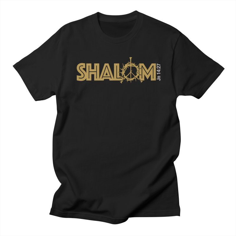 Shalom Men's Regular T-Shirt by Stand Forgiven ✝ Bible-inspired designer brand