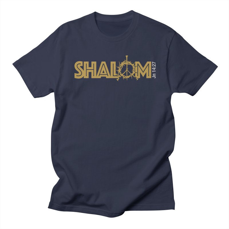 Shalom Women's Regular Unisex T-Shirt by Stand Forgiven ✝ Bible-inspired designer brand