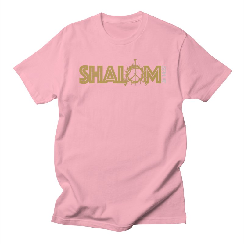 Shalom Men's Regular T-Shirt by Stand Forgiven ✝ Bible-inspired designer brand