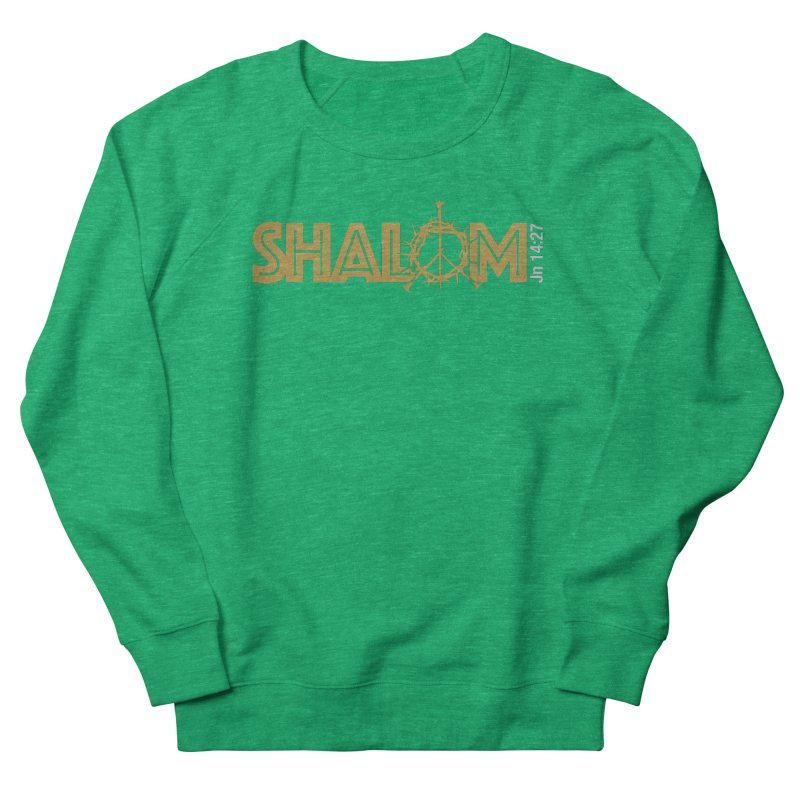 Shalom Women's French Terry Sweatshirt by Stand Forgiven ✝ Bible-inspired designer brand