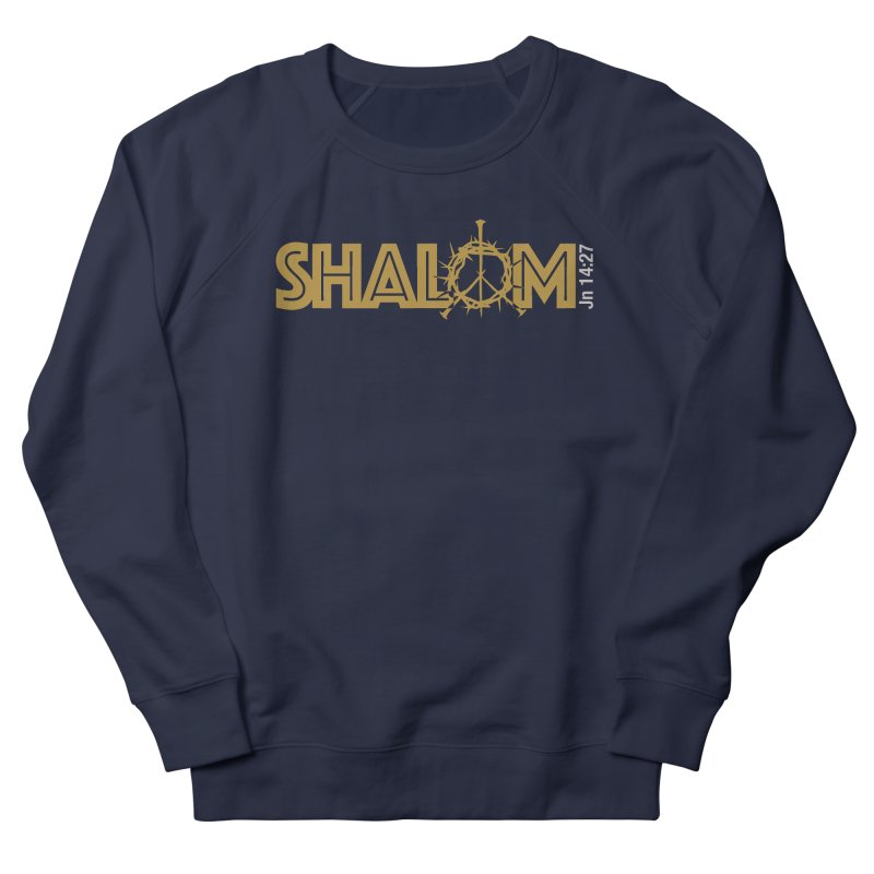 Shalom Men's French Terry Sweatshirt by Stand Forgiven ✝ Bible-inspired designer brand