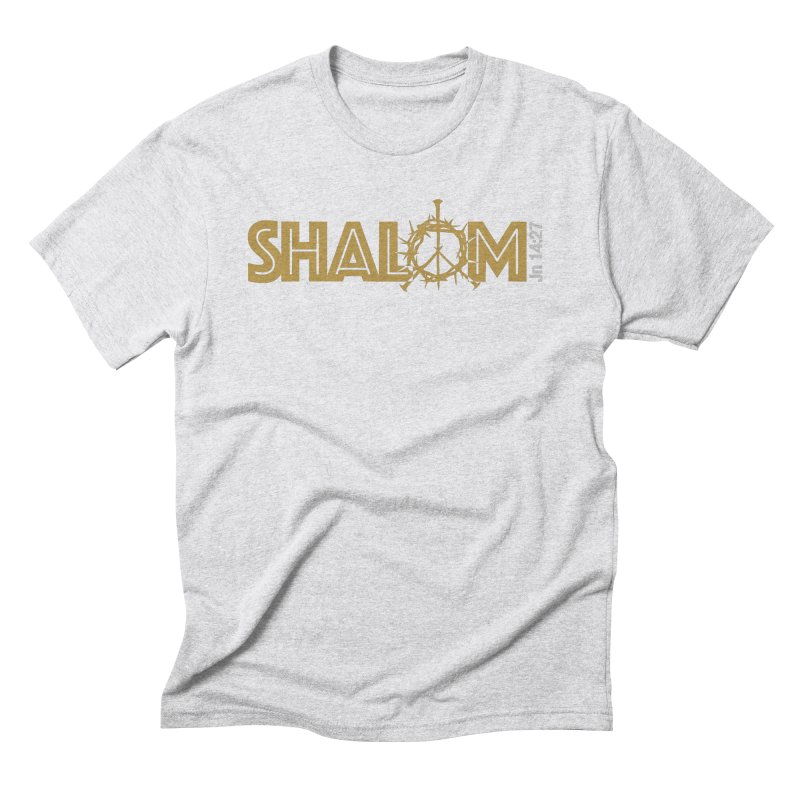 Shalom Men's Triblend T-Shirt by Stand Forgiven ✝ Bible-inspired designer brand