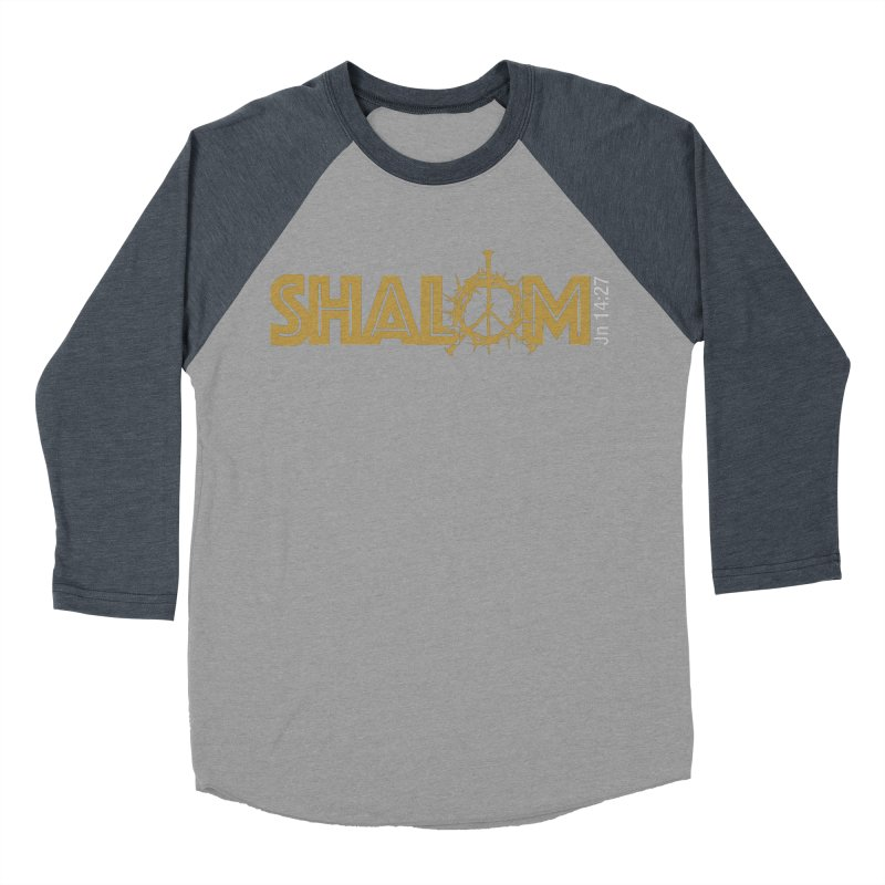 Shalom Women's Baseball Triblend Longsleeve T-Shirt by Stand Forgiven ✝ Bible-inspired designer brand