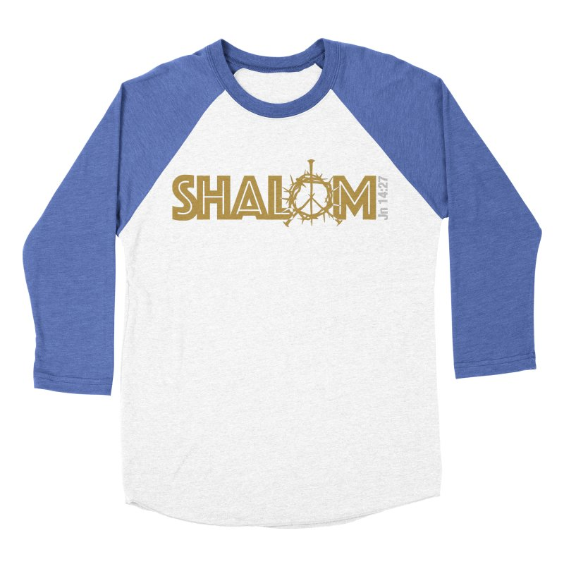 Shalom Men's Baseball Triblend T-Shirt by Stand Forgiven ✝ Bible-inspired designer brand