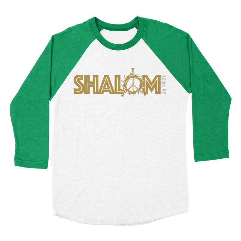 Shalom Men's Baseball Triblend Longsleeve T-Shirt by Stand Forgiven ✝ Bible-inspired designer brand