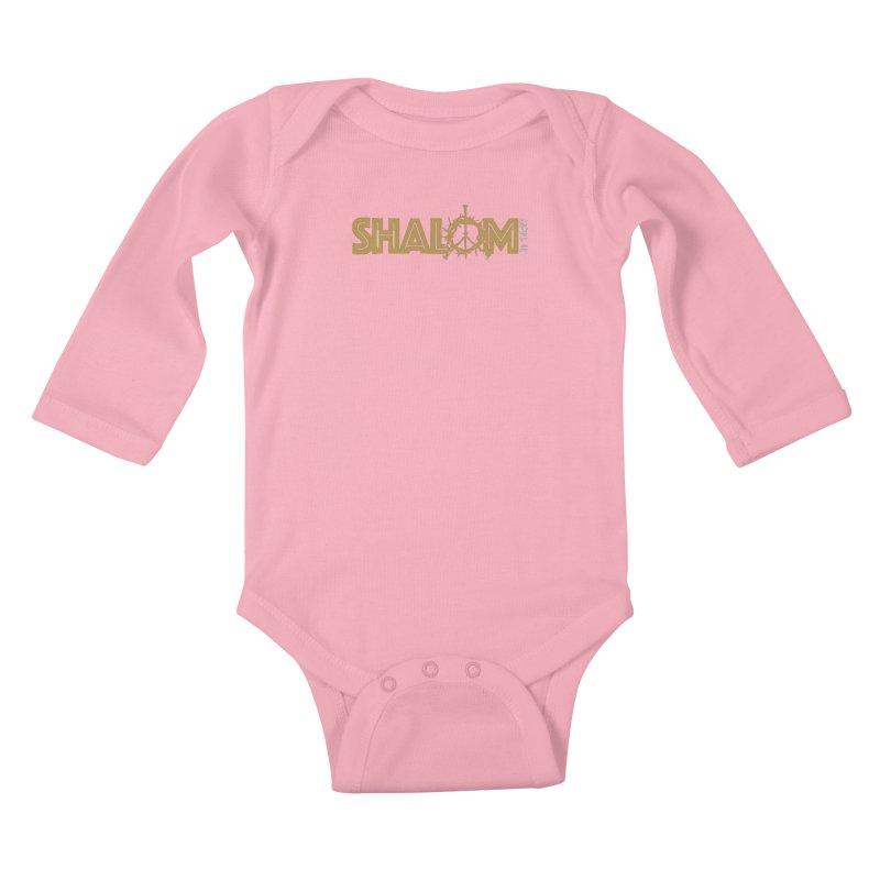 Shalom Kids Baby Longsleeve Bodysuit by Stand Forgiven ✝ Bible-inspired designer brand