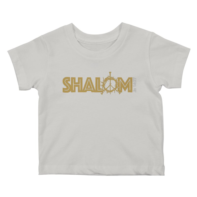 Shalom Kids Baby T-Shirt by Stand Forgiven ✝ Bible-inspired designer brand