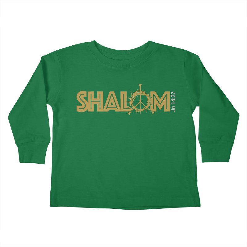 Shalom Kids Toddler Longsleeve T-Shirt by Stand Forgiven ✝ Bible-inspired designer brand