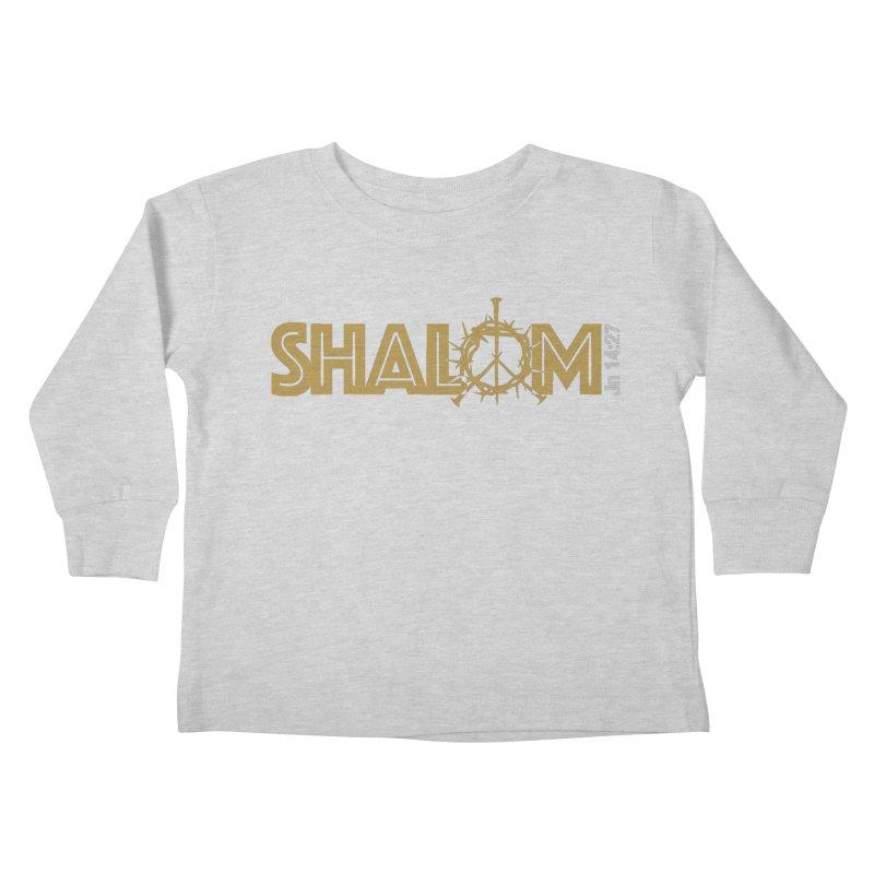 Shalom Kids Toddler Longsleeve T-Shirt by Stand Forgiven ✝ Bible-inspired designer brand