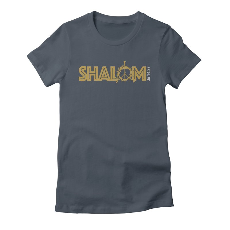 Shalom Women's T-Shirt by Stand Forgiven ✝ Bible-inspired designer brand