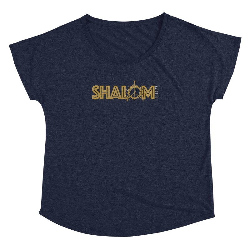 Shalom Women's Dolman Scoop Neck by Stand Forgiven ✝ Bible-inspired designer brand
