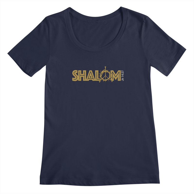 Shalom Women's Regular Scoop Neck by Stand Forgiven ✝ Bible-inspired designer brand