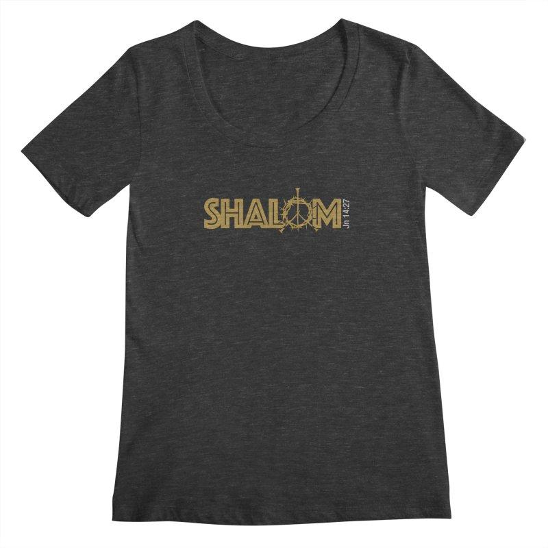 Shalom Women's Regular Scoop Neck by Stand Forgiven ✝ Bible-inspired designer brand