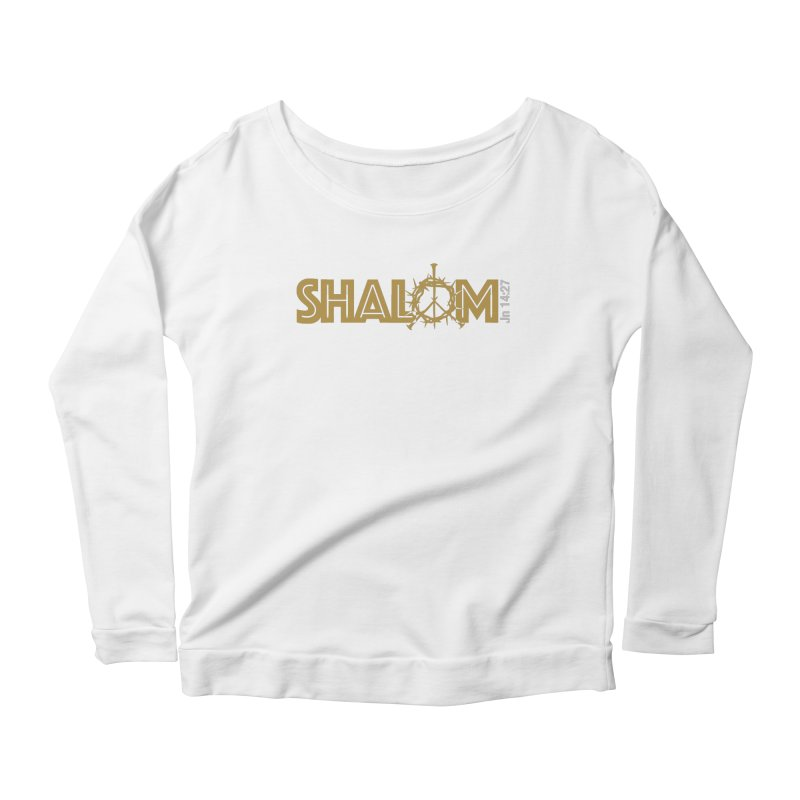 Shalom Women's Scoop Neck Longsleeve T-Shirt by Stand Forgiven ✝ Bible-inspired designer brand