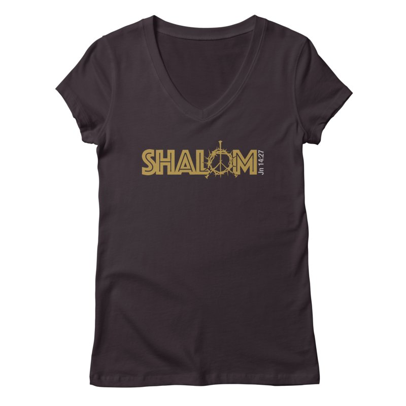 Shalom Women's Regular V-Neck by Stand Forgiven ✝ Bible-inspired designer brand