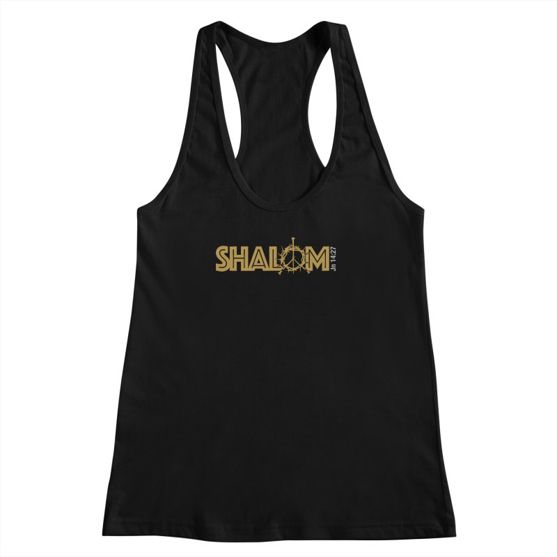 Shalom Women's Racerback Tank by Stand Forgiven ✝ Bible-inspired designer brand