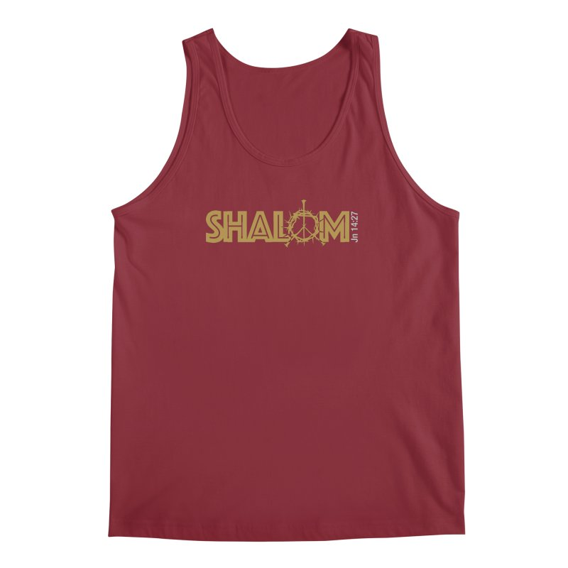 Shalom Men's Tank by Stand Forgiven ✝ Bible-inspired designer brand