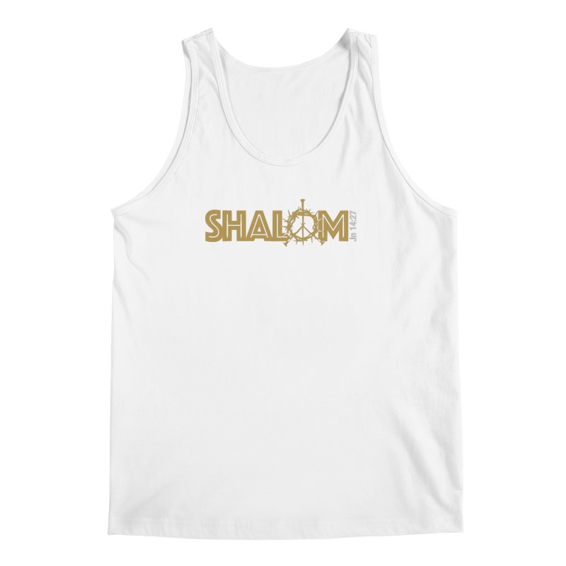 Shalom Men's Regular Tank by Stand Forgiven ✝ Bible-inspired designer brand