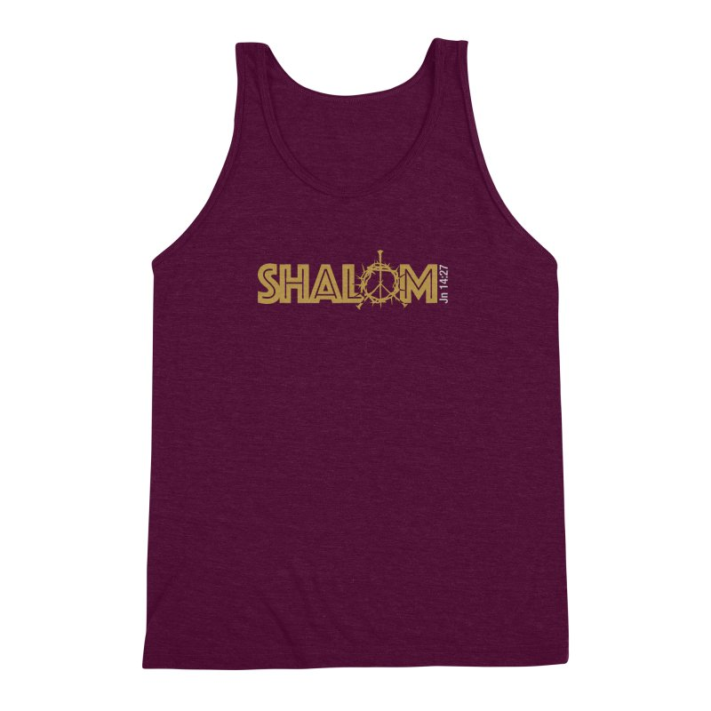 Shalom Men's Triblend Tank by Stand Forgiven ✝ Bible-inspired designer brand