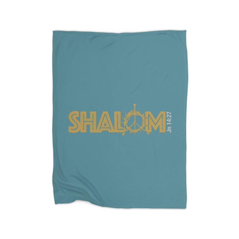 Shalom Home Fleece Blanket Blanket by Stand Forgiven ✝ Bible-inspired designer brand