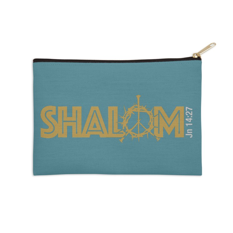 Shalom Accessories Zip Pouch by Stand Forgiven ✝ Bible-inspired designer brand