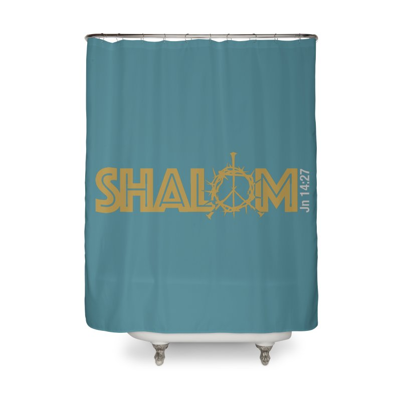 Shalom Home Shower Curtain by Stand Forgiven ✝ Bible-inspired designer brand