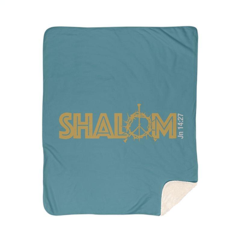 Shalom Home Sherpa Blanket Blanket by Stand Forgiven ✝ Bible-inspired designer brand