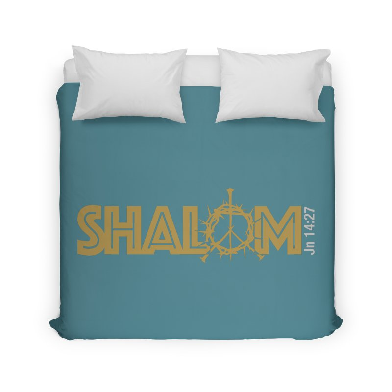 Shalom Home Duvet by Stand Forgiven ✝ Bible-inspired designer brand