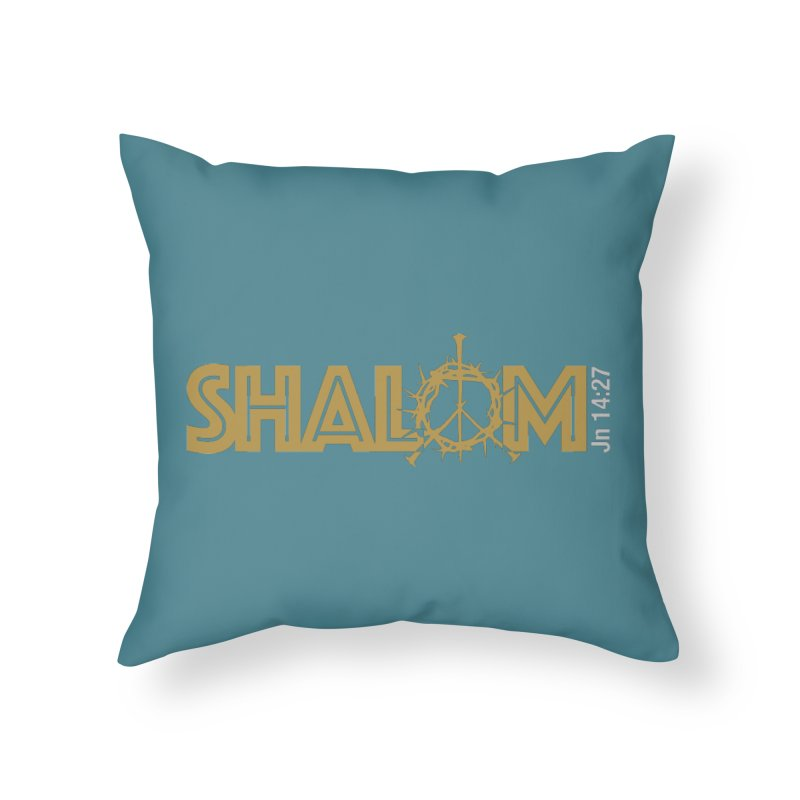 Shalom Home Throw Pillow by Stand Forgiven ✝ Bible-inspired designer brand