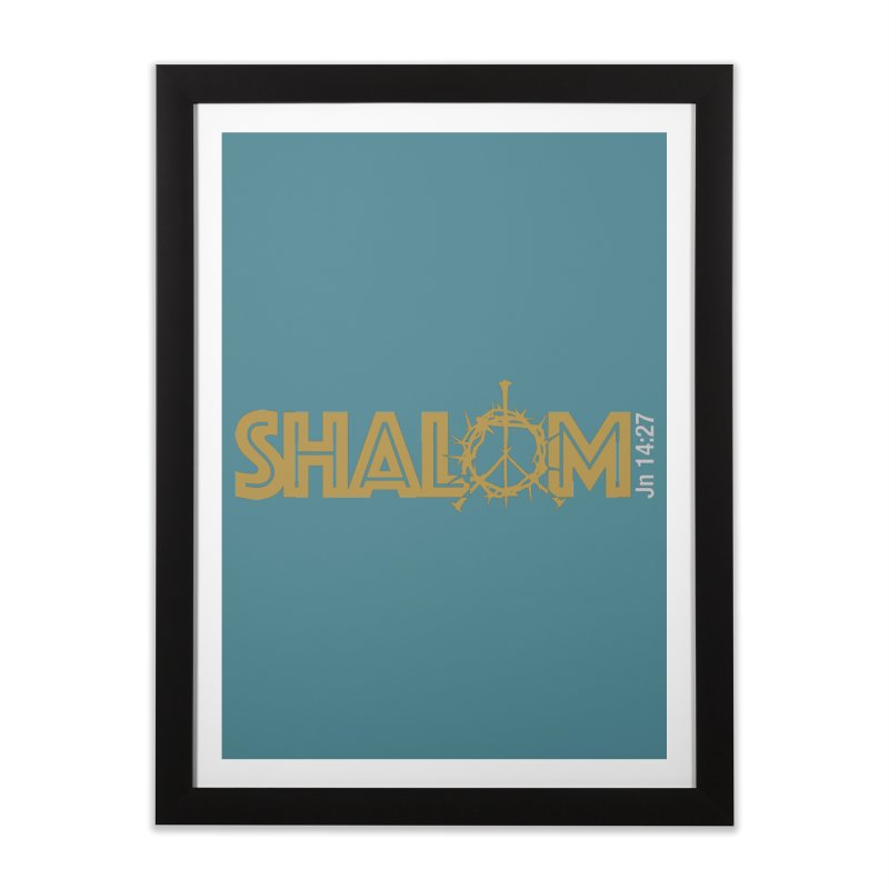 Shalom Home Framed Fine Art Print by Stand Forgiven ✝ Bible-inspired designer brand