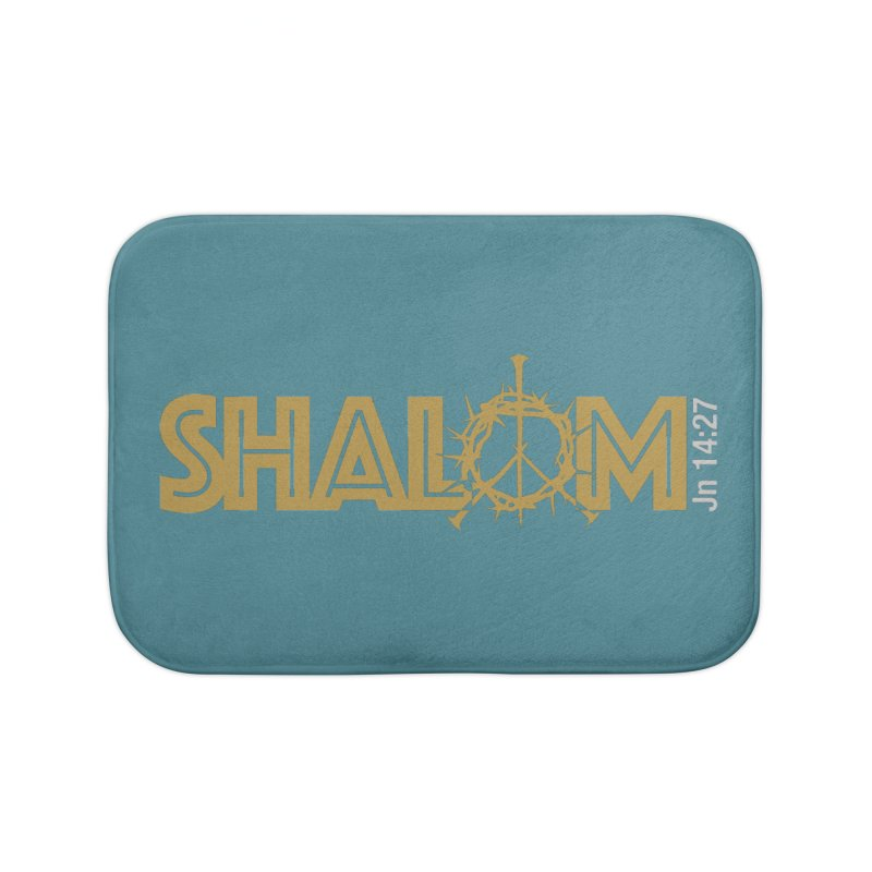 Shalom Home Bath Mat by Stand Forgiven ✝ Bible-inspired designer brand