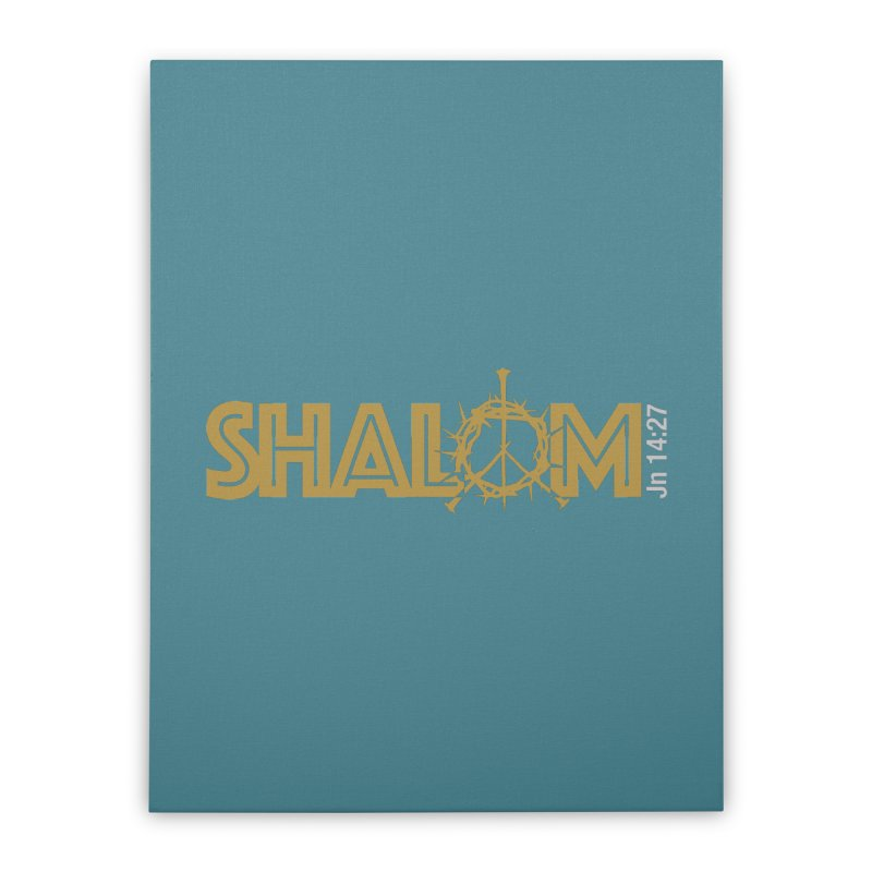 Shalom Home Stretched Canvas by Stand Forgiven ✝ Bible-inspired designer brand