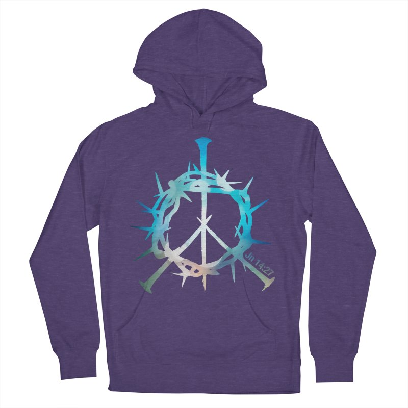 Peace be with You Men's French Terry Pullover Hoody by Stand Forgiven ✝ Bible-inspired designer brand