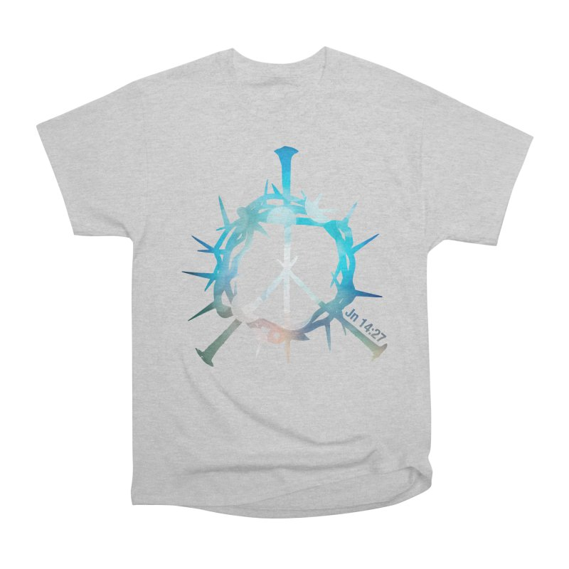Peace be with You Men's Heavyweight T-Shirt by Stand Forgiven ✝ Bible-inspired designer brand