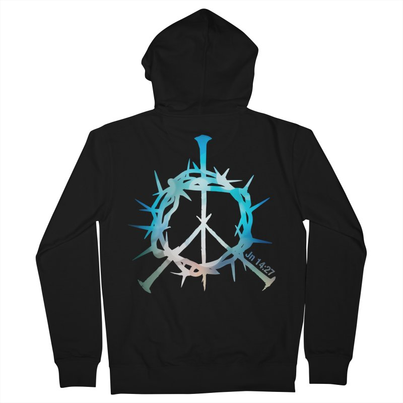 Peace be with You Women's French Terry Zip-Up Hoody by Stand Forgiven ✝ Bible-inspired designer brand