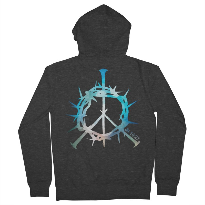 Peace be with You Men's French Terry Zip-Up Hoody by Stand Forgiven ✝ Bible-inspired designer brand