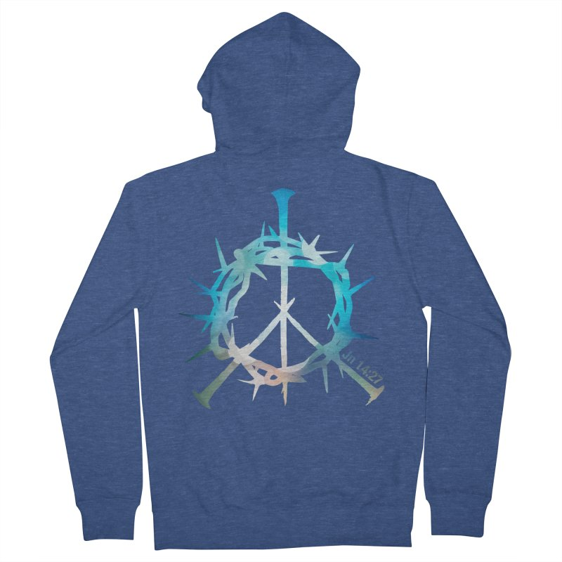 Peace be with You Men's Zip-Up Hoody by Stand Forgiven ✝ Bible-inspired designer brand