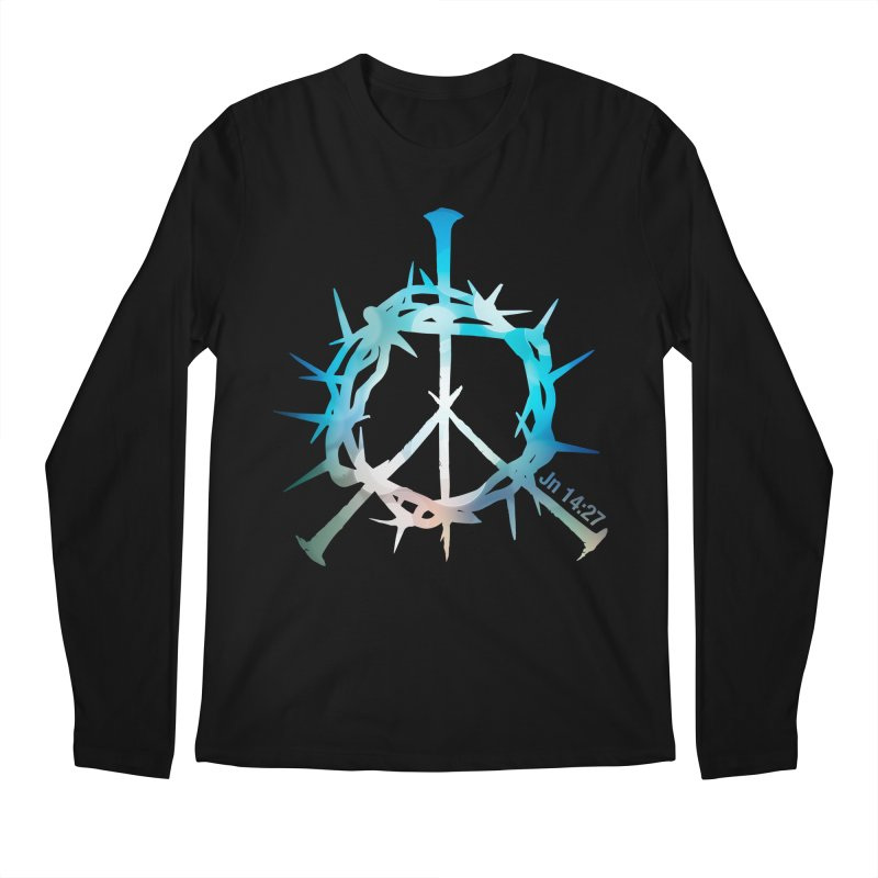 Peace be with You Men's Regular Longsleeve T-Shirt by Stand Forgiven ✝ Bible-inspired designer brand