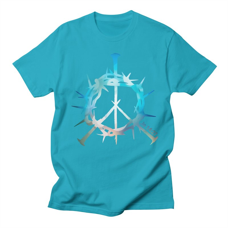 Peace be with You Men's Regular T-Shirt by Stand Forgiven ✝ Bible-inspired designer brand