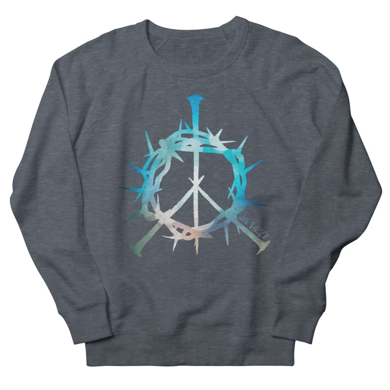 Peace be with You Women's French Terry Sweatshirt by Stand Forgiven ✝ Bible-inspired designer brand