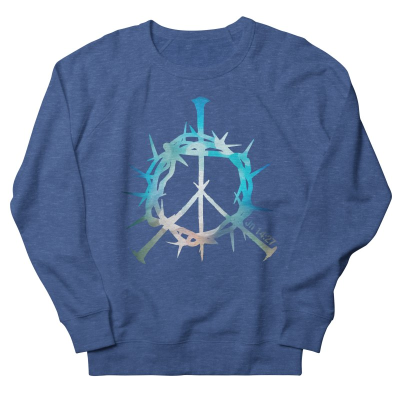 Peace be with You Men's French Terry Sweatshirt by Stand Forgiven ✝ Bible-inspired designer brand