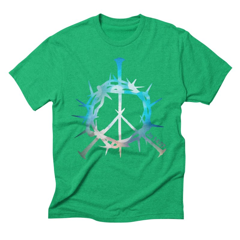 Peace be with You Men's Triblend T-Shirt by Stand Forgiven ✝ Bible-inspired designer brand