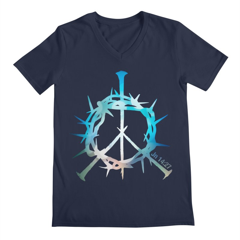 Peace be with You Men's V-Neck by Stand Forgiven ✝ Bible-inspired designer brand