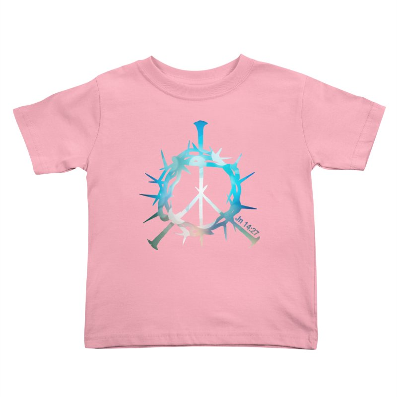 Peace be with You Kids Toddler T-Shirt by Stand Forgiven ✝ Bible-inspired designer brand