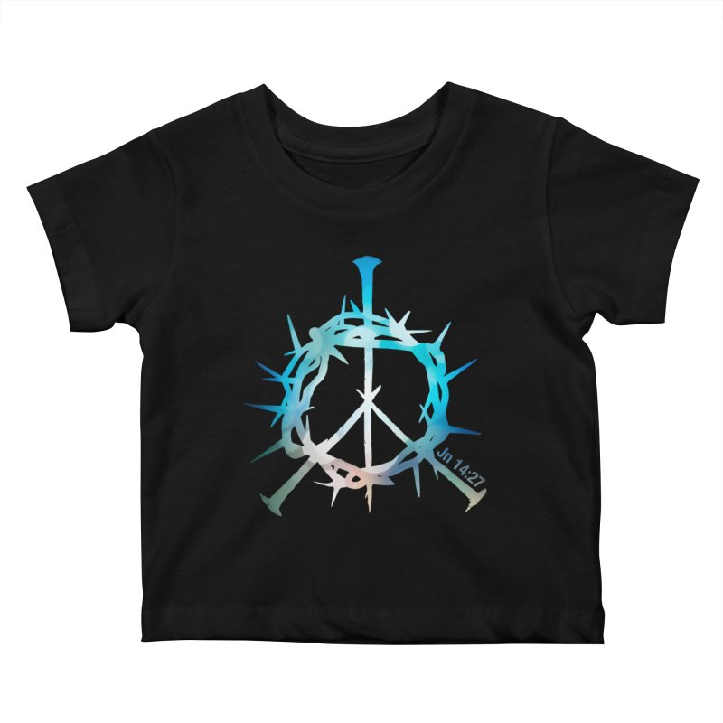 Peace be with You Kids Baby T-Shirt by Stand Forgiven ✝ Bible-inspired designer brand